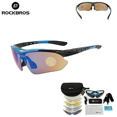 ROCKBROS Polarized Cycling Glasses Sports Glasses Sunglasses Goggles Blue