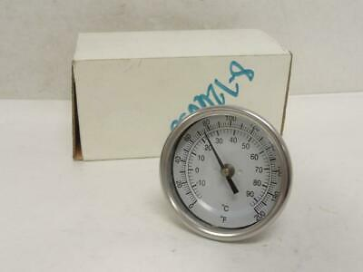 """177486 New In Box, Vilter 1467G Thermometer, SS, 0-200Deg F, 3"""" Dial"""
