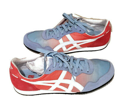 Asics Onitsuka Tiger Women Serrano Blue Bell/White Red D471L Sneakers Size 10.5