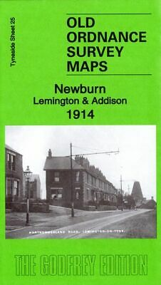 Old Ordnance Survey Map Newburn & Addison 1914 Newcastle Lemington Lane