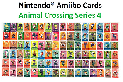Individual Animal Crossing Amiibo Cards - Series 4 (#301-400)[US Ver.] YOU PICK!