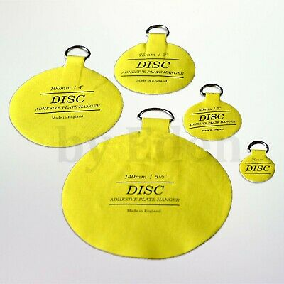 Self Adhesive Plate Hanger Disc Picture Stick on Invisible Hook 5 Size Available