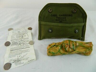 WWII 1944 US Army Grenade Sight M1903 M1 Carbine Rifle Carrying Case Instruction