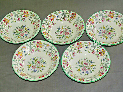 Minton Haddon Hall Cereal Fruit Bowls X5  1St Quality Dinner Service Tea Set