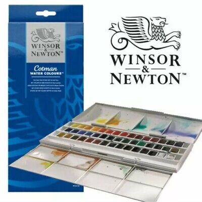 Winsor & Newton Cotman Studio Watercolour Studio Set - 45 Half Pans