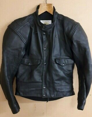 Genuine leather BKS motorcycle jacket with armour. Size - small / Medium Grade-1
