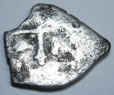 1600's Spanish Silver 1/2 Reales Piece of 8 Real Pirate Treasure Cob Coin