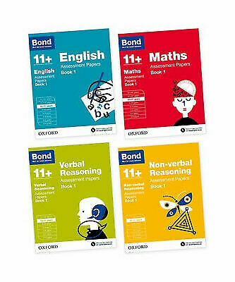 Bond 11 Plus 10-11 year Assessment Papers English Maths Verbal Reason  4book Set
