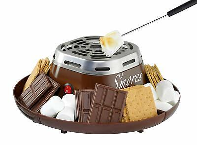 Nostalgia SMM200 Indoor Electric Stainless Steel S'mores Maker with 4