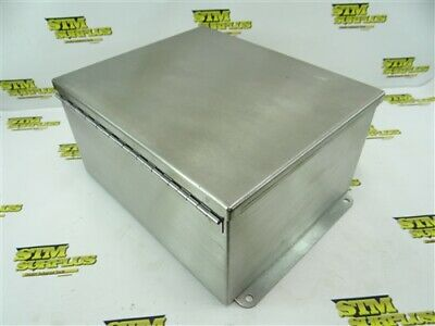 "New Hoffman Stainless Steel Enclosure Hinged Lid 6"" X 10"" X 12"" A12106Chnfss"