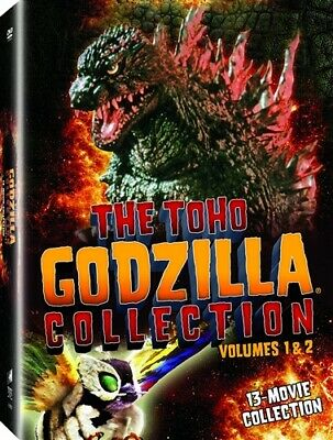 THE TOHO GODZILLA COLLECTION VOLUMES 1 & 2 New Sealed 13 DVD Set 13 Films