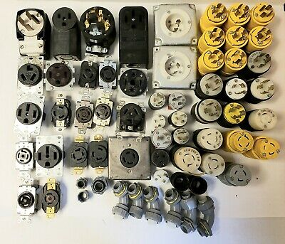 Bulk Lot Of Electrical Plugs And Receptacles.  Too Many To List.