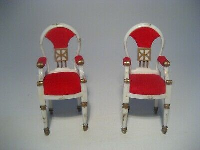 Vintage Dollhouse Furniture Ideal Petite Princess Host Dining Chairs Lot Of 2