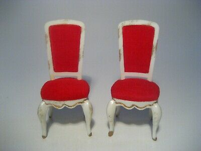 Vintage Dollhouse Furniture Ideal Petite Princess Hostess Dining Chairs Lot Of 2