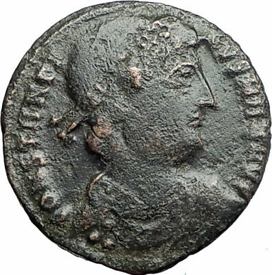 CONSTANTINE I the GREAT 330AD Authentic Ancient Roman Coin LEGION Soldier i80561