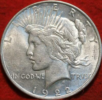 Uncirculated 1922-D Denver Mint Silver Peace Dollar