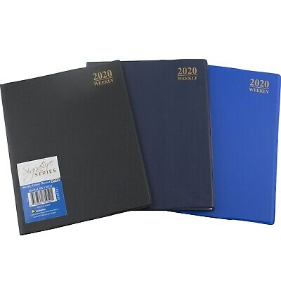 "2020 Weekly Planner Notebook Agenda Vinyl Cover Choose Color 8"" x 10"" Full Size"