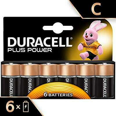 Duracell Plus Power Pack de 6 Piles Alcaline Taille C Multicolore Lot 6