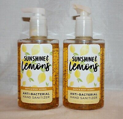 2 Bath & Body Works Sunshine & Lemons Anti-Bacterial Hand Sanitizer - Large Size
