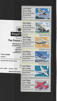Post & Go - NEW The Postal Museum, Mail By Air O/P, R19YAL