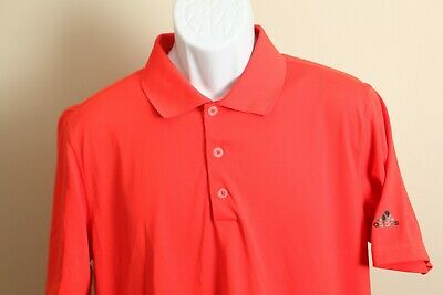 Adidas Golf Men's solid red with black logos PureMotion s/s polo shirt Medium M