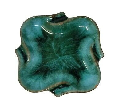 Blue Mountain Pottery 5 Inch Square Ashtray Dish With Rounded Corners AS IS