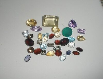Natural Gemstone Mixed Faceted Loose Parcel Lot 30 Total Carats