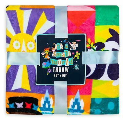 Disney Parks It's A Small World Icons Fleece Throw Blanket New With Tags