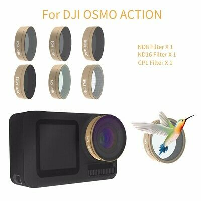 6PC STAR+CPL+ND4+ND8+ND16+ND32 Camera Lens Filters For DJI OSMO ACTION Camera
