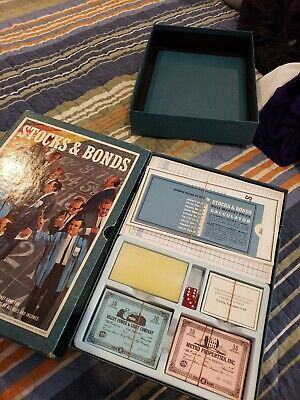 Vintage 1964 3M Stocks and Bonds Bookshelf Board Game Complete unused EC