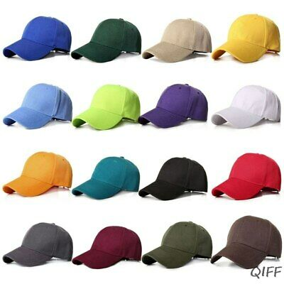 Baseball Cap Washed Cotton Style Adjustable Plain Solid Dad Hat Mens Hats