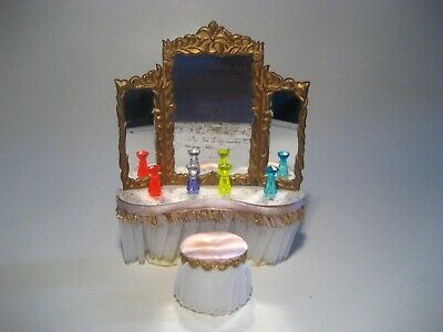 Vintage  Dollhouse Furniture Ideal Petite Princess Royal Dressing Table Pink Lot
