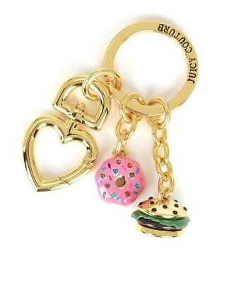 Juicy Couture Key Ring fob Purse Charm Food Treats NEW