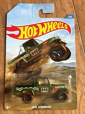 HOT WHEELS WALMART OFF ROAD TRUCK SERIES JEEP SCRAMBLER Green