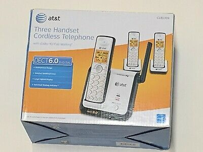 AT&T Three Handset Cordless Phones CL81309 Dect 6.0 w/ Caller ID/ Call Waiting