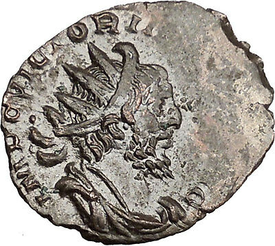 Victorinus  269AD Very rare Silvered Ancient Roman Coin Salus Health Cult i39006
