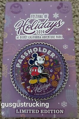 New Disney Parks Pin (Festival of Holidays at DCA 2019 AP Exclusive) LE3000