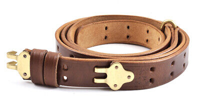 M1907 LEATHER RIFLE SLING M1 GARAND SPRINGFIELD Premium Drum Dyed Leather