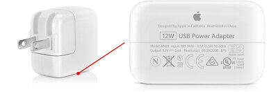 Apple 12W USB Power Adapter Wall Charger for iPhone X XS XR 8 7 6 iPad 2 3 4 Air
