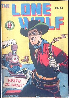 THE LONE WOLF # 41 1950's GOLDEN AGE AUSTRALIAN DRAWN  COMIC