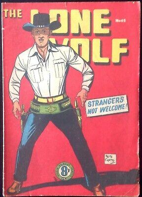 THE LONE WOLF # 42 1950's GOLDEN AGE AUSTRALIAN DRAWN  COMIC