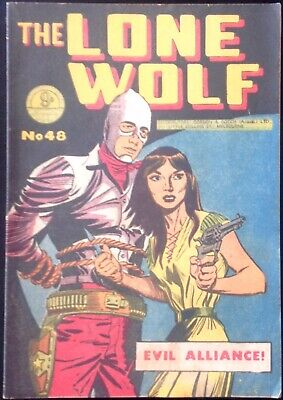 THE LONE WOLF # 48 1950's GOLDEN AGE AUSTRALIAN DRAWN  COMIC
