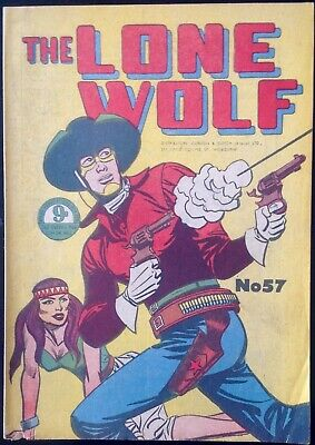 THE LONE WOLF # 57 1950's GOLDEN AGE AUSTRALIAN DRAWN  COMIC