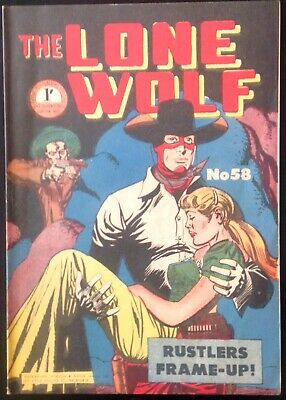 THE LONE WOLF # 58 1950's GOLDEN AGE AUSTRALIAN DRAWN  COMIC