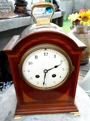ANTIQUE MAPLE & Co LONDON BRACKET CLOCK WITH FRENCH MOUGIN MOVEMENT