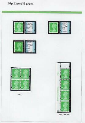 SPECIALISED COLLECTION OF UNMOUNTED MINT 60p MACHINS