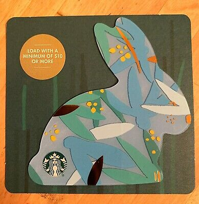 """Canada Series Starbucks """"EASTER BUNNY BLUE 2019"""" Gift Card - New No Value"""
