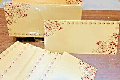 Premium Shagun Indian Gift Envelope Pack of 10, RED FLOWERS (FREE POSTAGE)