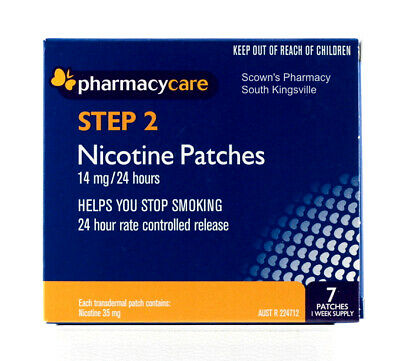 Pharmacy Care Nicotine Patches 14mg 24 Hours Step 2 Quit Smoking Now Amcal Sigma