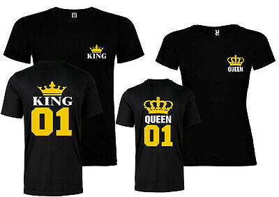 Camiseta pareja king queen